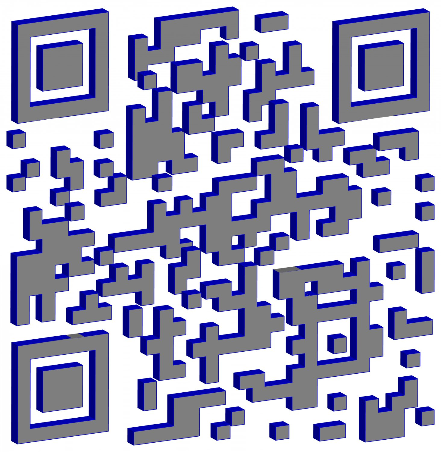 - This 3D QR code has a cool blue look. -  - Art and the Zen of QR Codes - QaRt - making art from QR codes. - Tony Karp, design, art, photography, techno-impressionist, techno-impressionism, aerial photography , drone , drones , dji , mavic pro , video , 3D printing - Books -