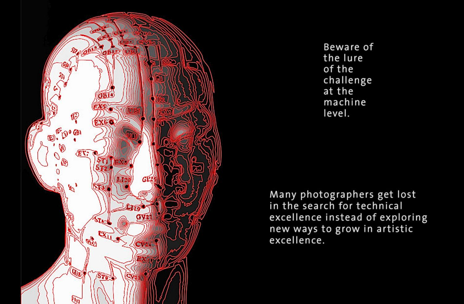 A picture of Pinhead the acupuncture dummy head -  - Fixing JPEG images with Adobe Camera Raw - Panasonic DMC-ZS20 - Tony Karp, design, art, photography, techno-impressionist, techno-impressionism, aerial photography , drone , drones , dji , mavic pro , video , 3D printing - Books -