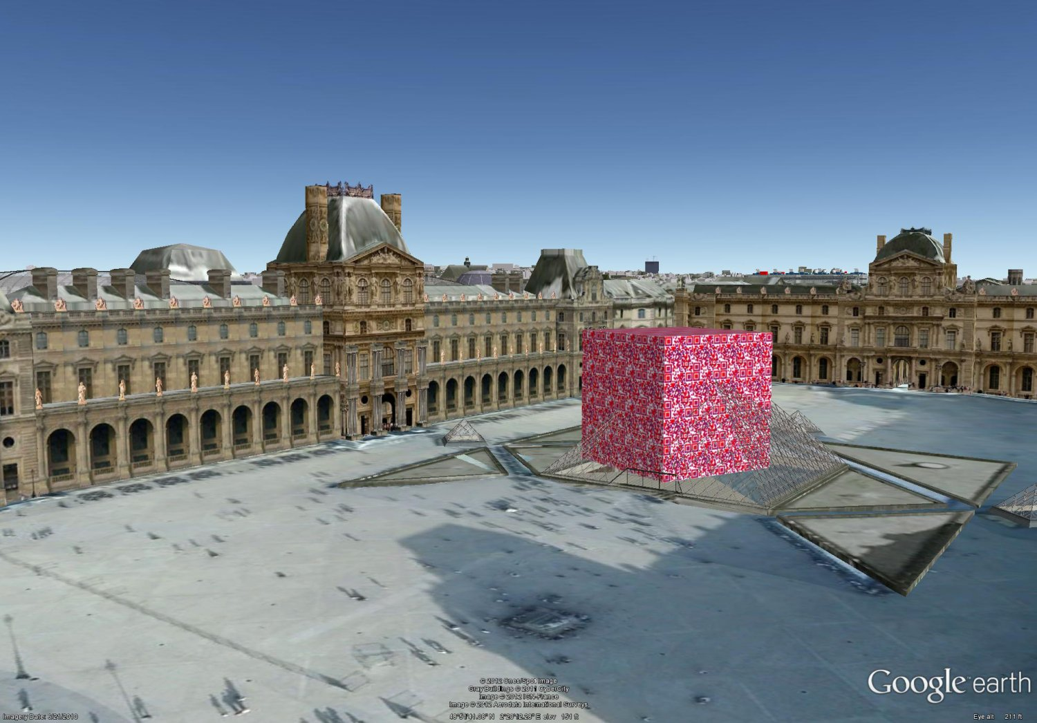 - The Borg QR cube lands before the Louvre in Paris, sitting on La Pyramide. -  - Art and the Zen of QR Codes - QaRt - making art from QR codes. - Tony Karp, design, art, photography, techno-impressionist, techno-impressionism, aerial photography , drone , drones , dji , mavic pro , video , 3D printing - Books -