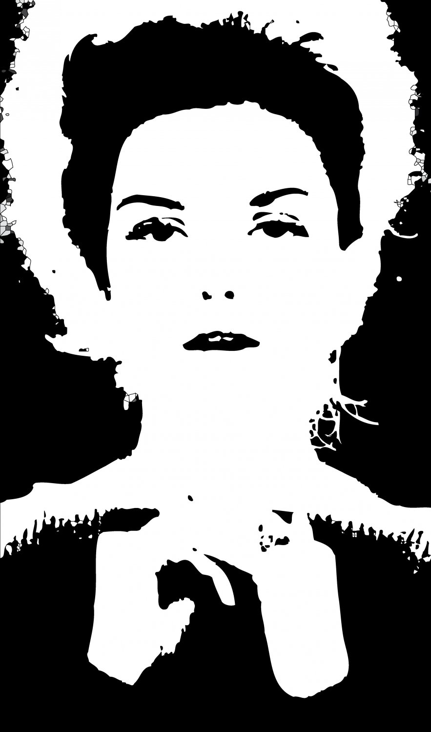 - Here, the picture has been transformed to PostScript, becoming a series of objects rather than pixels - A portrait of Donna Mitchell as a young model - 1962 - Tony Karp, design, art, photography, techno-impressionist, techno-impressionism, aerial photography , drone , drones , dji , mavic pro , video , 3D printing - Books -
