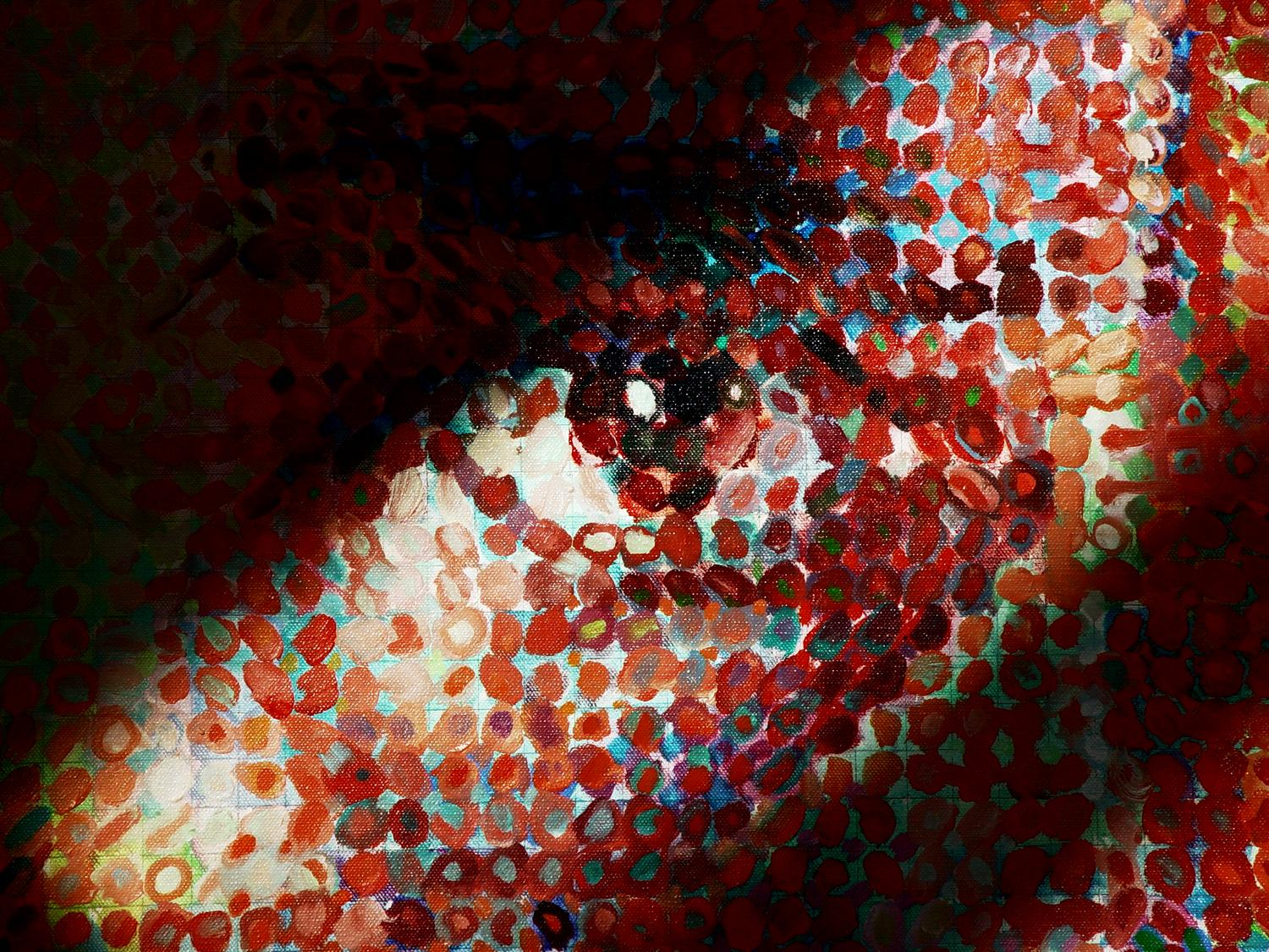 Close to Chuck Close - - Close to Close. A close-up of a work by Chuck Close - Tony Karp, design, art, photography, techno-impressionist, techno-impressionism, aerial photography , drone , drones , dji , mavic pro , video , 3D printing - Books -