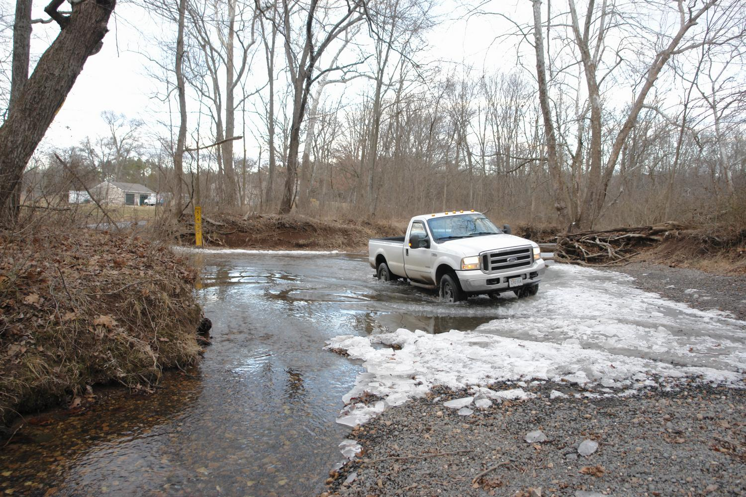 - Truck fording icy stream at Bull Run -  - taken with Sony DSC-R1 - Tony Karp, design, art, photography, techno-impressionist, techno-impressionism, aerial photography , drone , drones , dji , mavic pro , video , 3D printing - Books -