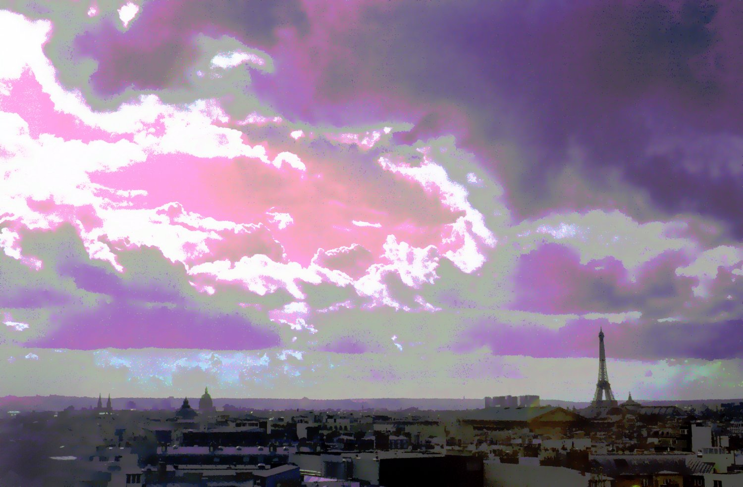- Clouds approach the Eiffel Tower. - Paris, eiffel tower - Tony Karp, design, art, photography, techno-impressionist, techno-impressionism, aerial photography , drone , drones , dji , mavic pro , video , 3D printing - Books -