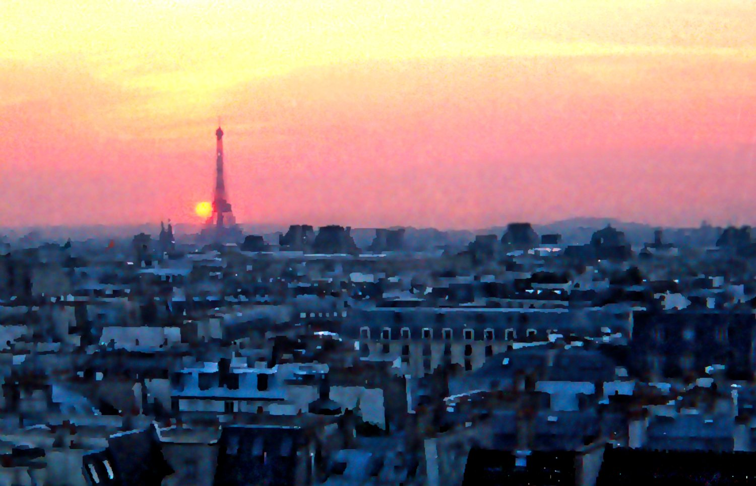 - Goodnight, Paris. A view across the city as the sun sets. - Paris, eiffel tower - Tony Karp, design, art, photography, techno-impressionist, techno-impressionism, aerial photography , drone , drones , dji , mavic pro , video , 3D printing - Books -