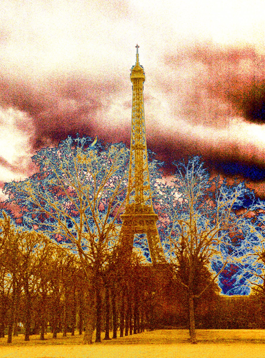 - The Eiffel tower in the manner of a nineteenth century photographer. - Paris, eiffel tower - Tony Karp, design, art, photography, techno-impressionist, techno-impressionism, aerial photography , drone , drones , dji , mavic pro , video , 3D printing - Books -