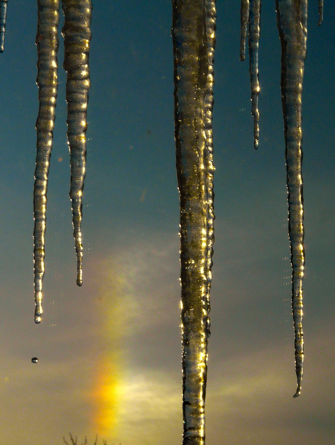 -  Panasonic DMC-FZ18 - Icicles and a sun dog. - - art  - photography - by Tony Karp
