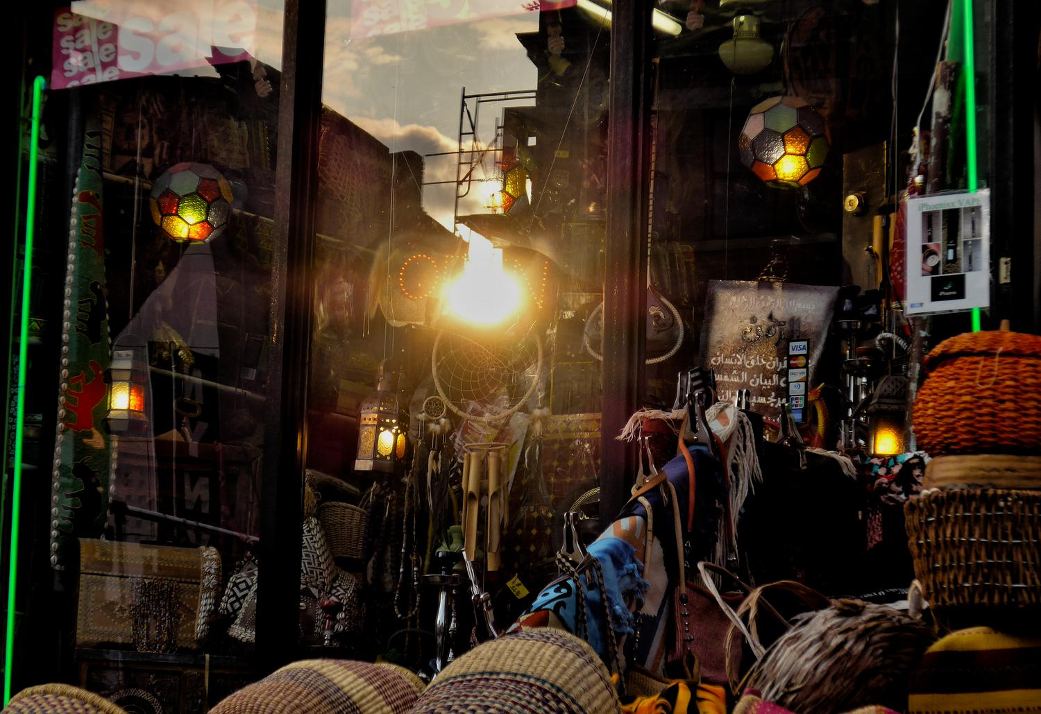 - The sunset reflected in a shop window. - Adams Morgan, Washington DC, Panasonic DMC-LF1, Mediterranean Bistro, sunset - Tony Karp, design, art, photography, techno-impressionist, techno-impressionism, aerial photography , drone , drones , dji , mavic pro , video , 3D printing - Books -