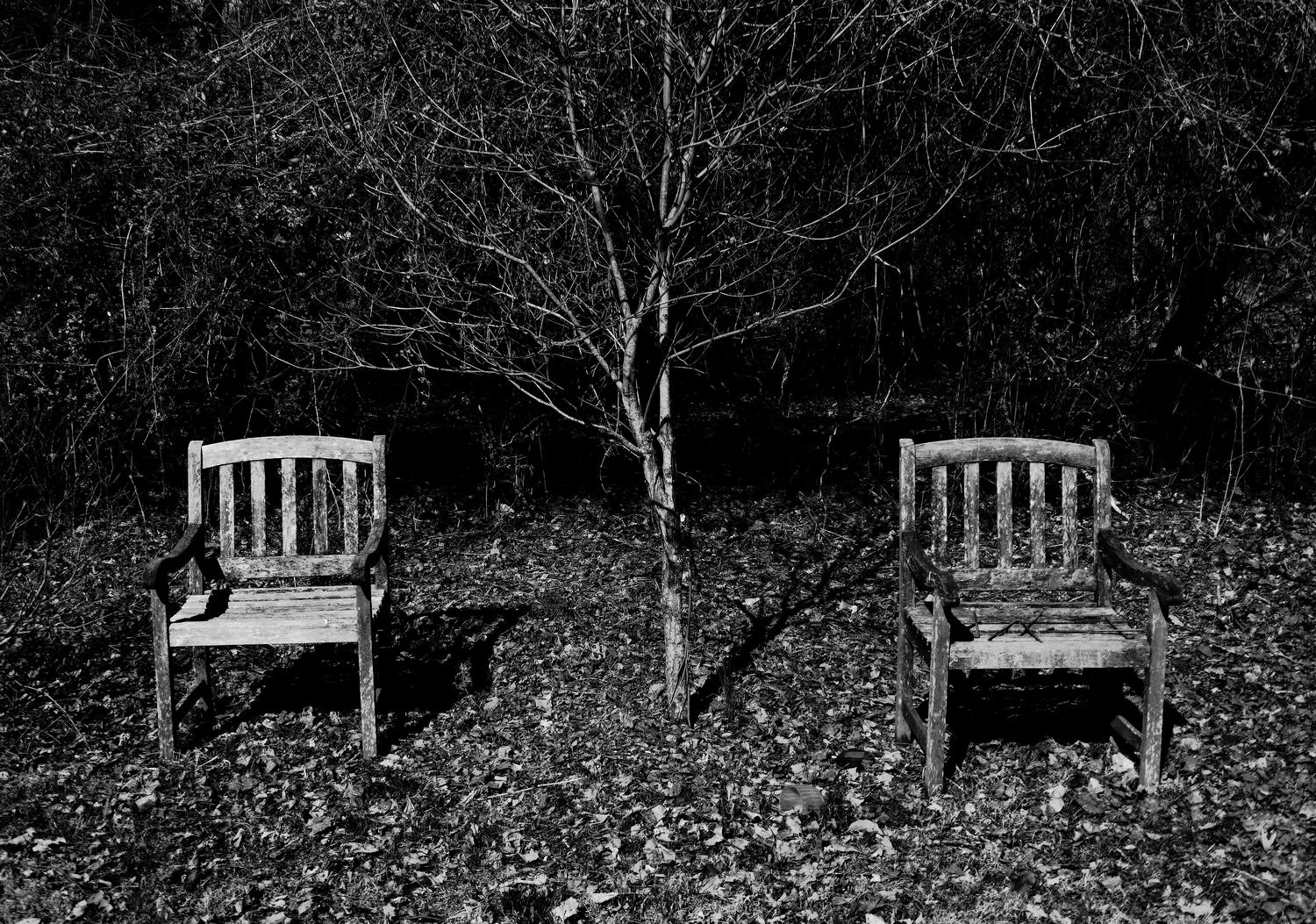 -  Chairs for two in a forgotten place. - Panasonic DMC-ZS40 - Panasonic DMC-TZ60 - - - art  - photography - by Tony Karp
